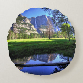 Reflections of Falls Round Cushion