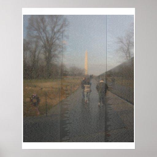 Reflections of History-Vietnam War Wall of Names Poster