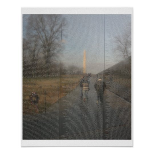 Reflections of History-Vietnam War Wall of Names Poster