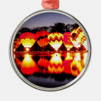 Reflections of Hot Air Balloons Christmas Ornament