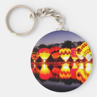 Reflections of Hot Air Balloons Key Ring