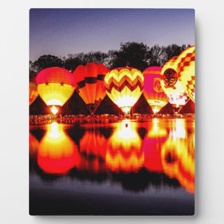 Reflections of Hot Air Balloons Photo Plaques