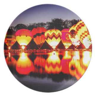 Reflections of Hot Air Balloons Plate
