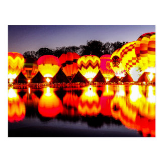 Reflections of Hot Air Balloons Postcard