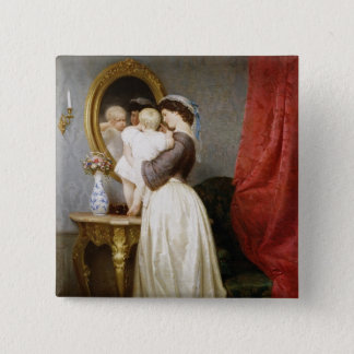 Reflections of Maternal Love 15 Cm Square Badge