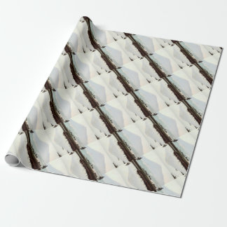 Reflections of Mt. Fuji in Old Japan Vintage Lake Wrapping Paper