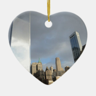 Reflections of New York Ceramic Heart Decoration