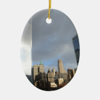 Reflections of New York Ceramic Oval Decoration