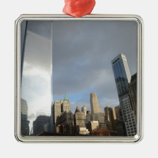 Reflections of New York Silver-Colored Square Decoration