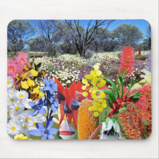 REFLECTIONS OF OZ Australian Wildflowers Mouse Mat