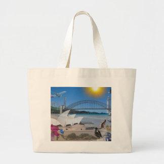 REFLECTIONS OF OZ Brisbane Meets Sydney Large Tote Bag