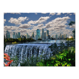 REFLECTIONS OF OZ  Brisbane River Waterfalls Art Photo