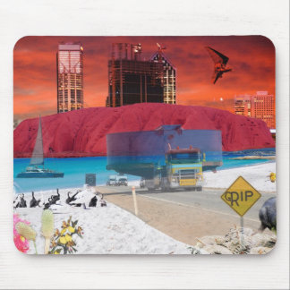 REFLECTIONS OF OZ Uluru to the coast Mouse Mat