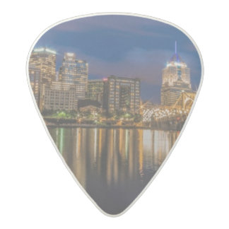 Reflections of Pittsburgh Acetal Guitar Pick