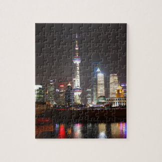 Reflections of Shanghai at Night Jigsaw Puzzle