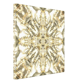 Reflections of Silver Gold Gallery Wrapped Canvas