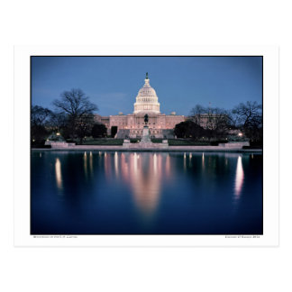 Reflections of the U.S. Capitol Postcard