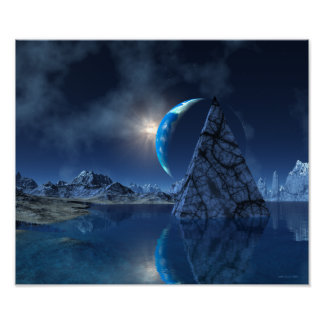 Reflections on an Empty Planet Sci Fi Print
