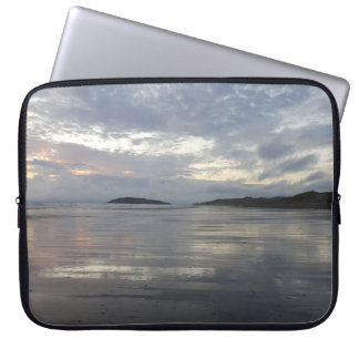 Reflections on Gower Peninsula Beach Laptop Sleeve