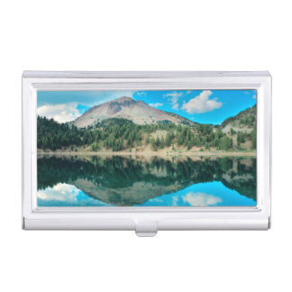 Reflections On Lake Helen Business Card Holder