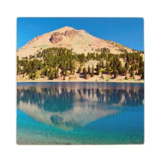 Reflections On Lake Helen, Lassen Volcanic Wood Coaster