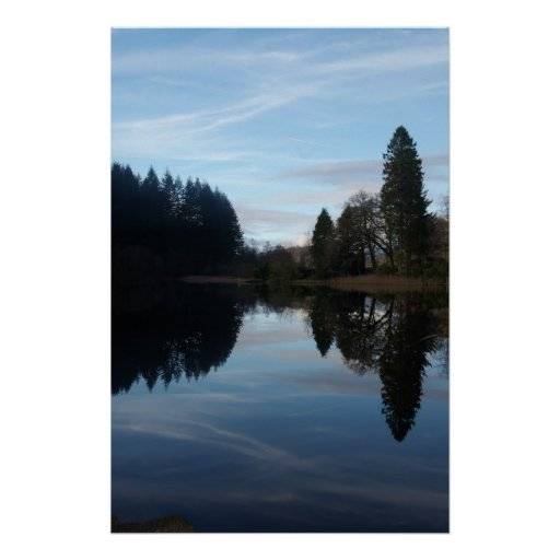 Reflections on Loch Ard Poster