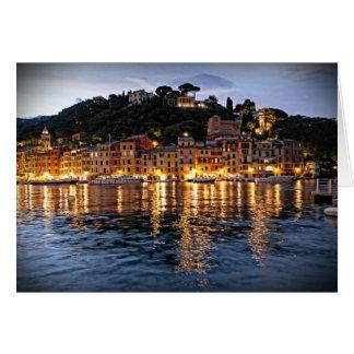 Reflections on Portofino, Italia - Notecard Note Card