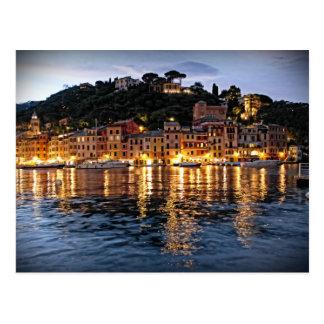 Reflections on Portofino, Italia Postcard