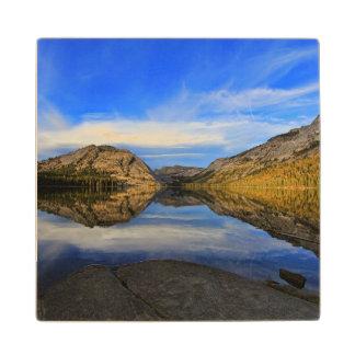 Reflections on Tenaya Lake Maple Wood Coaster
