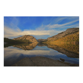 Reflections on Tenaya Lake Wood Print