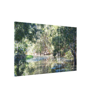 Reflections on the lagoon canvas print