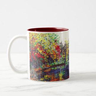 Reflections Painting Two-Tone Coffee Mug