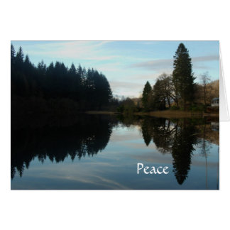 Reflections peace Loch Ard Card