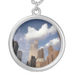 Reflections The Twin Towers World Trade Centre Round Pendant Necklace