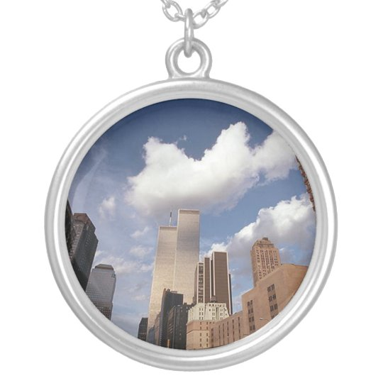 Reflections The Twin Towers World Trade Centre Silver Plated Necklace
