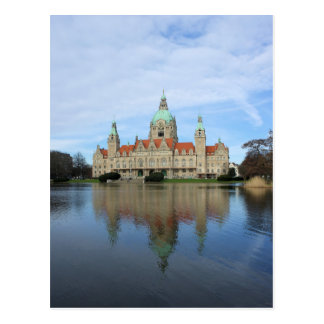 Reflections - Town Hall - Hannover Germany Postcard
