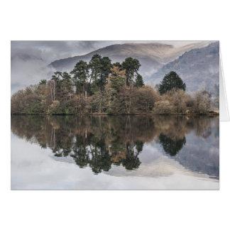 Reflective Autumn Lake Greeting Card