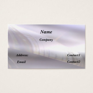 reflective metal effect business card