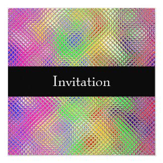 Reflective Rainbow 30th Birthday Party Event Card