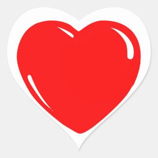 Reflective Red Heart Heart Sticker