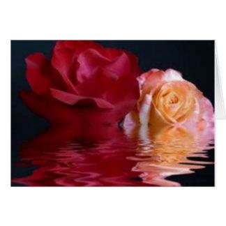 Reflective Rose Greeting Card