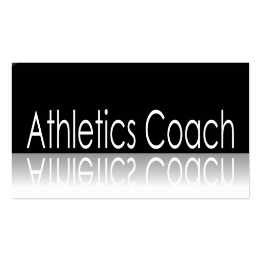 Reflective Text - Athletics Coach - Business Card