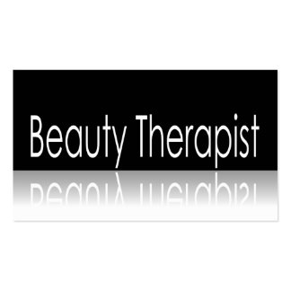 Reflective Text - Beauty Therapist Business Card