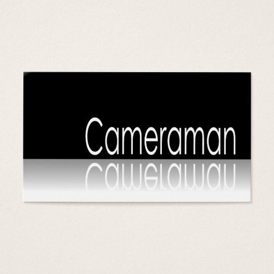 Reflective Text - Cameraman - Business Card