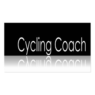 Reflective Text - Cycling Coach - Business Card