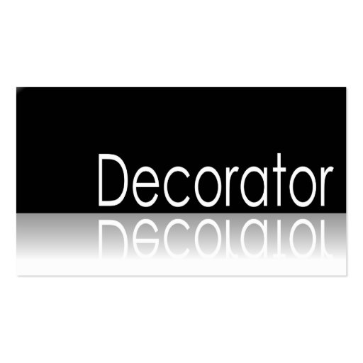 Reflective Text - Decorator - Business Card
