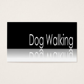Reflective Text - Dog Walking - Business Card