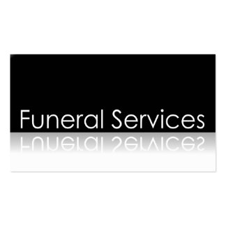 Reflective Text - Funeral Services - Business Card