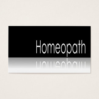 Reflective Text - Homeopath - Business Card
