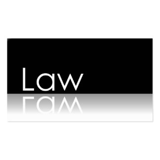 Reflective Text - Law - Business Card